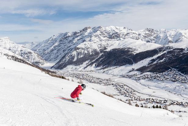 Lyžařská sezóna v Livignu začala díky silnému sněžení o tři týdny dřív