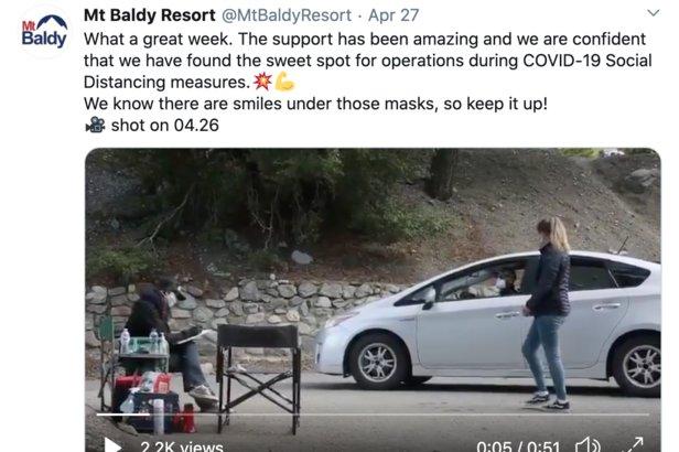 Mt. Baldy Tweet