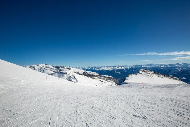 Zjazdovka č. 10 ponúka tie najkrajšie výhľady v celom stredisku Flims Laax Falera  - © Skiinfo | Sebastian Lindemeyer