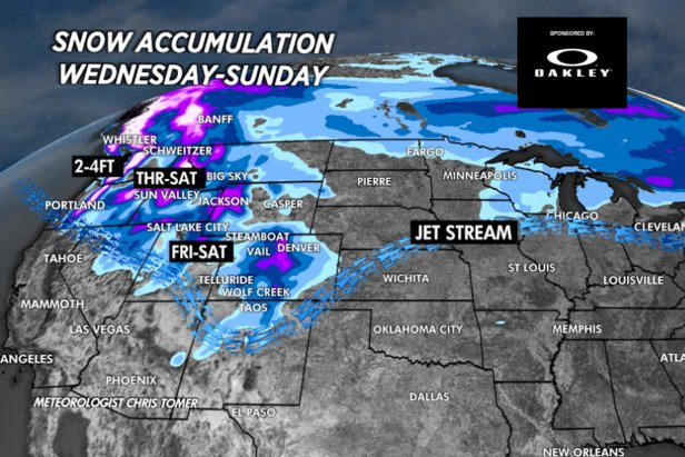The storm sytem through the weekend will benefit the PNW.   - © Meteorologist Chris Tomer