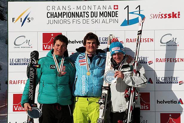 Nächstes JWM-Gold für Bostjan Kline im Super-G- ©Deprez Photos