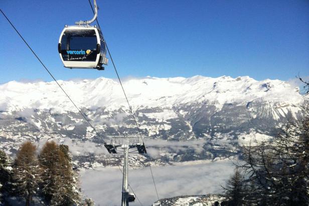 New gondel lift in Vercorin
