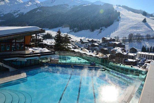 Après le ski : détente dans les espaces aquatiques- ©Thierry Milherou / La Clusaz