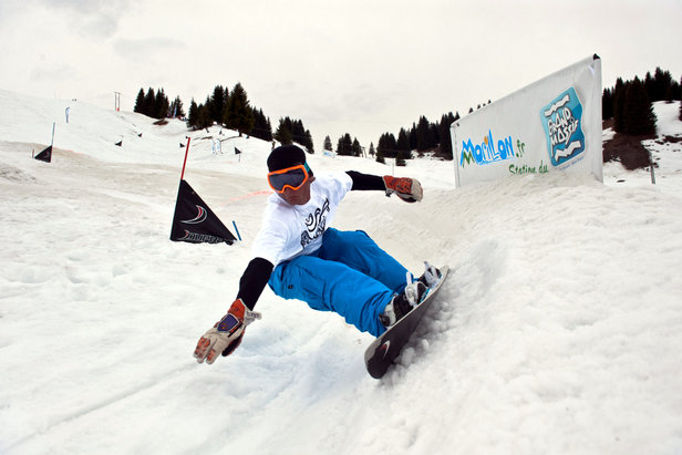 Dupraz Happy End Banked Slalom à Morillon - ©Boris Liger