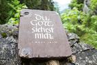 Am Einstieg des Hias-Klettersteig im Silberkarklamm - ©Bergleben.de