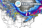 Solid Snowfall for Intermountain West, Northeast: 1.24 Snow B4U Go - © Meteorologist Chris Tomer