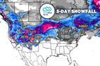 Heavy Snow & 2 Storms Target Sierras, Rockies: 3.7 Snow B4U Go - © Meteorologist Chris Tomer