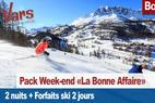 Pack week-end la bonne affaire
