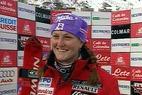 Regine Cavagnoud (FRA) untermauert ihre Klasse im Super-G mit dem Sieg in Cortina - ©XNX GmbH