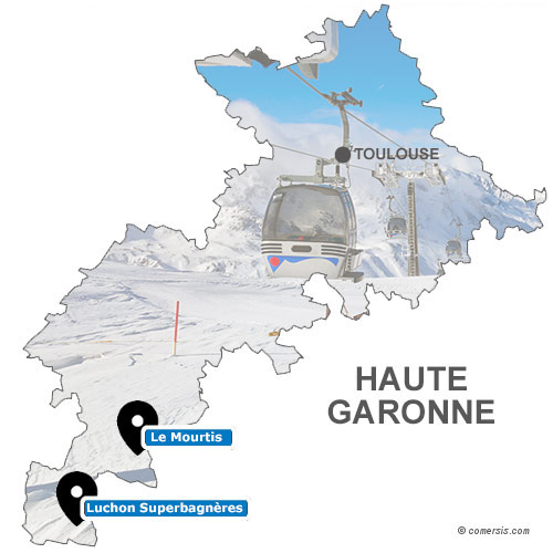 Carte des stations de ski de Haute Garonne (31)