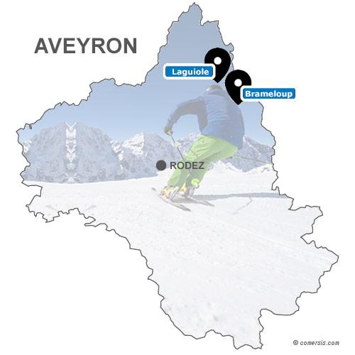 Carte des stations de ski de l'Aveyron (12)
