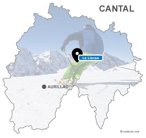 Carte des stations de ski du Cantal (15)