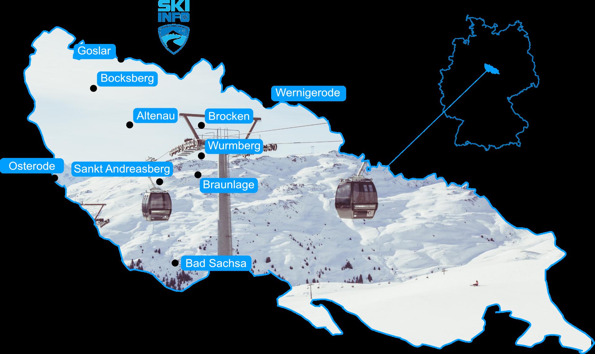 Karte Harz