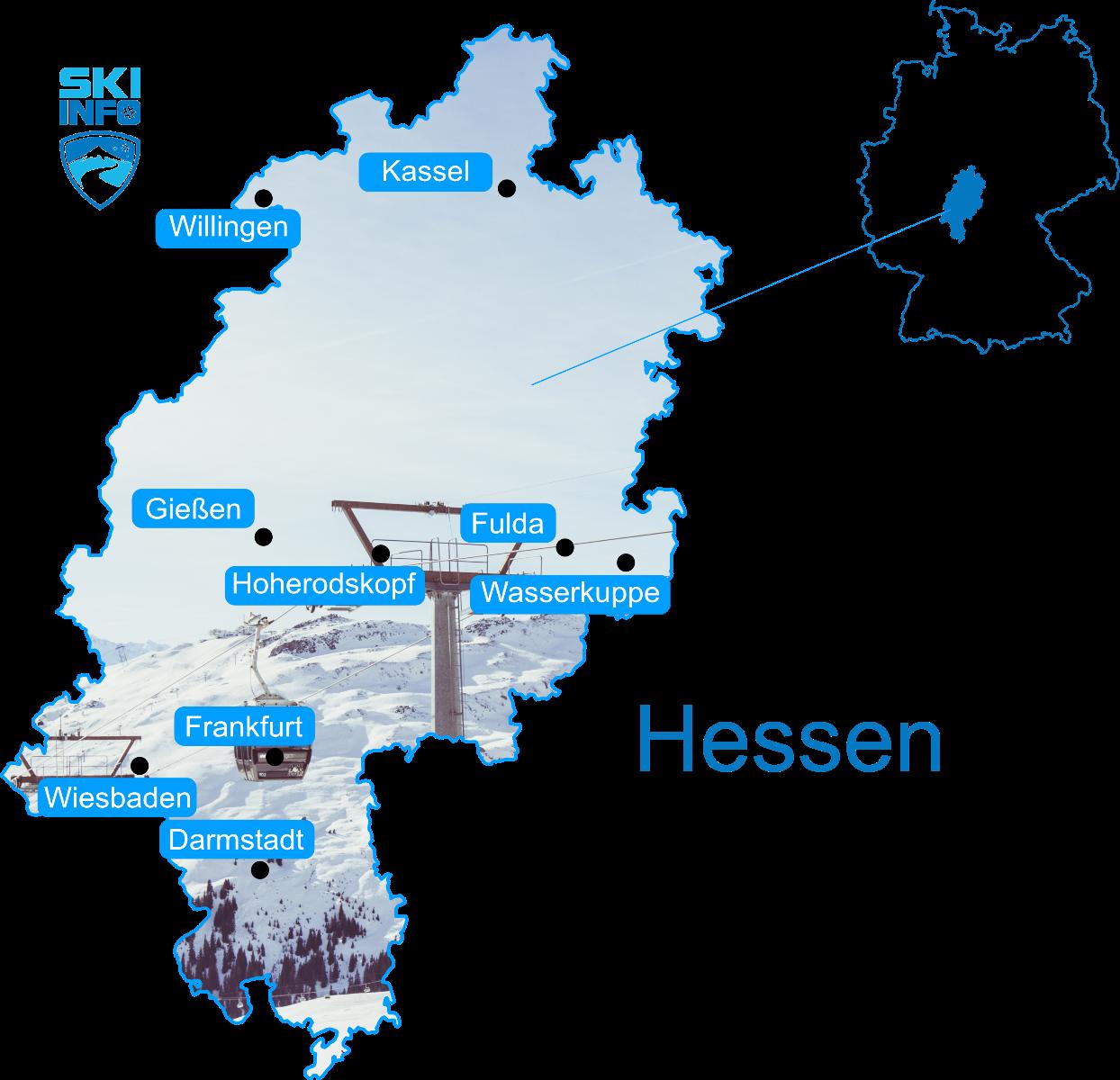 Karte Hessen