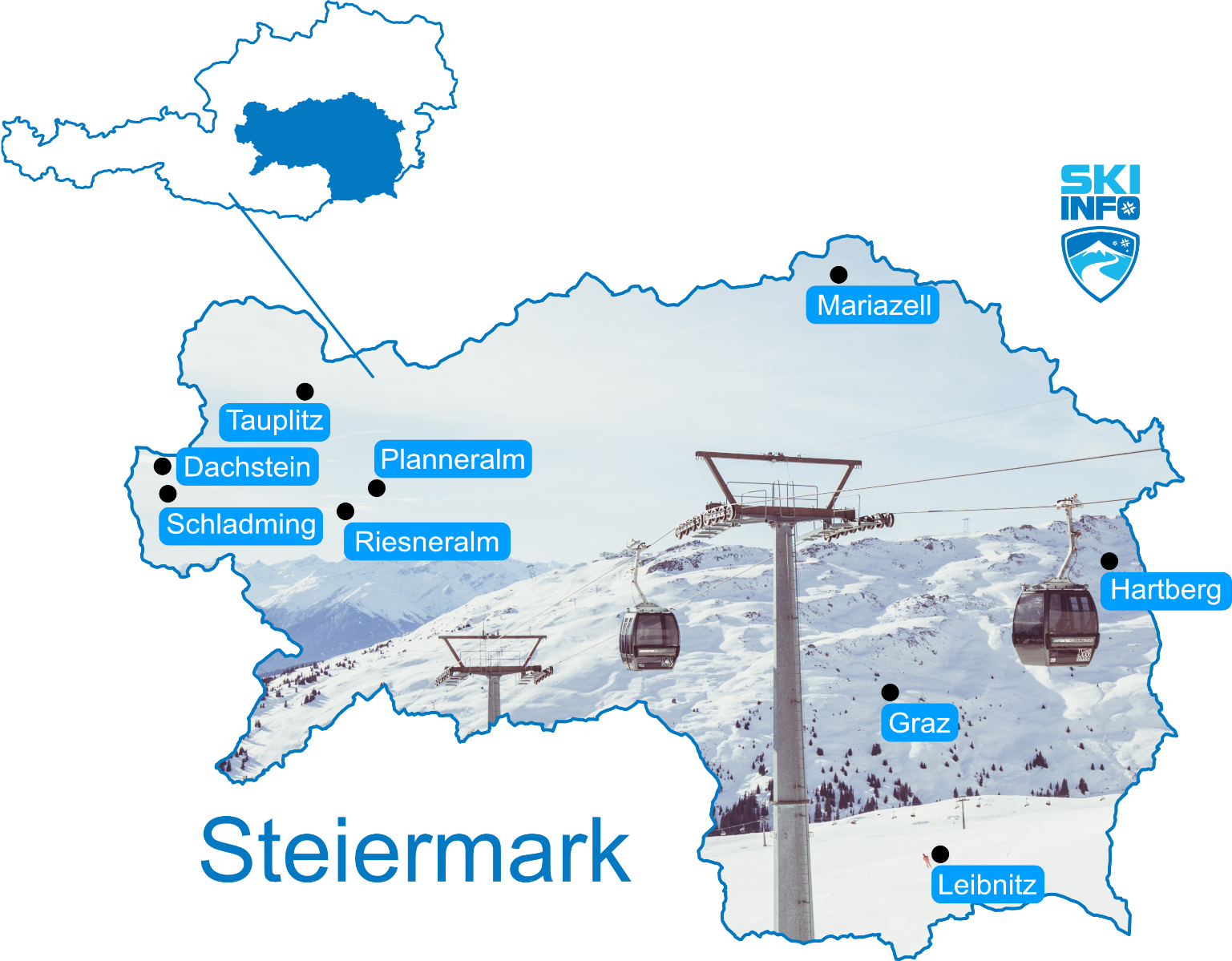Karte Steiermark
