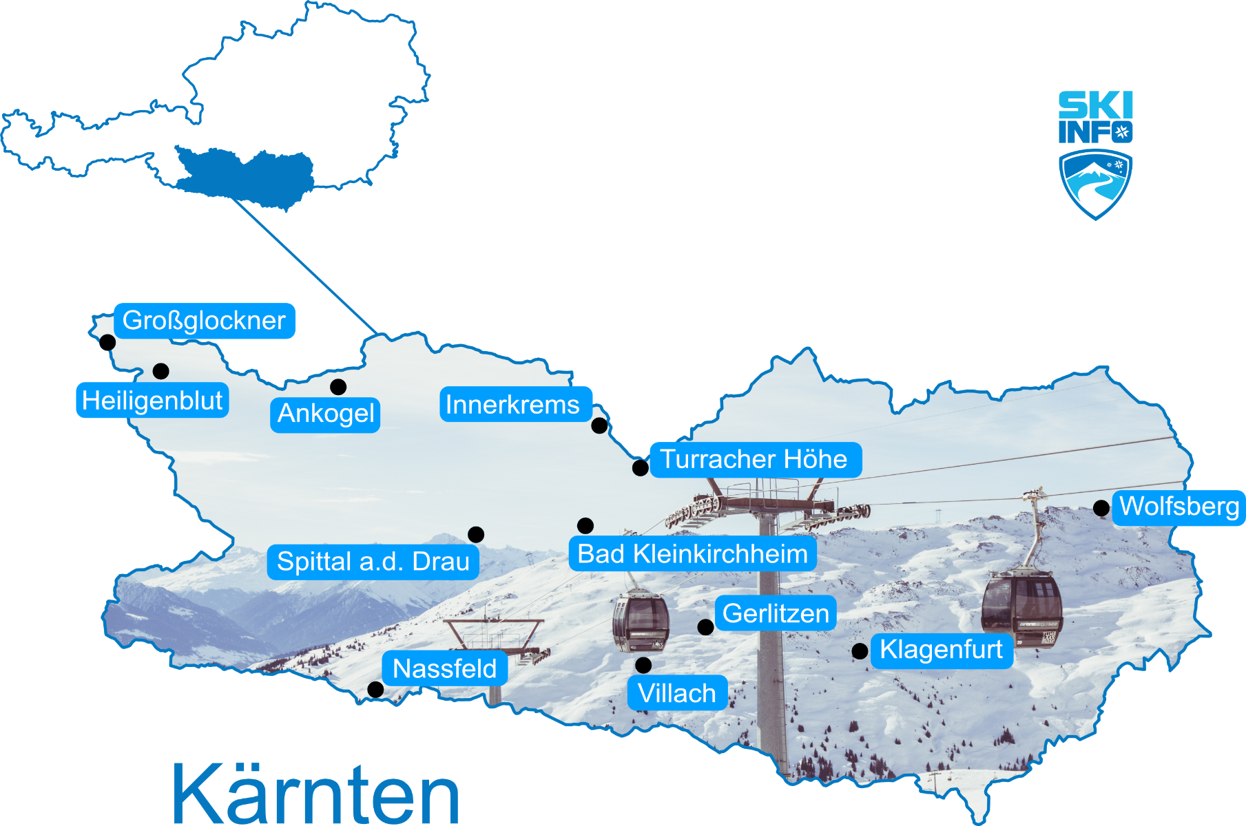 Karte Kärnten