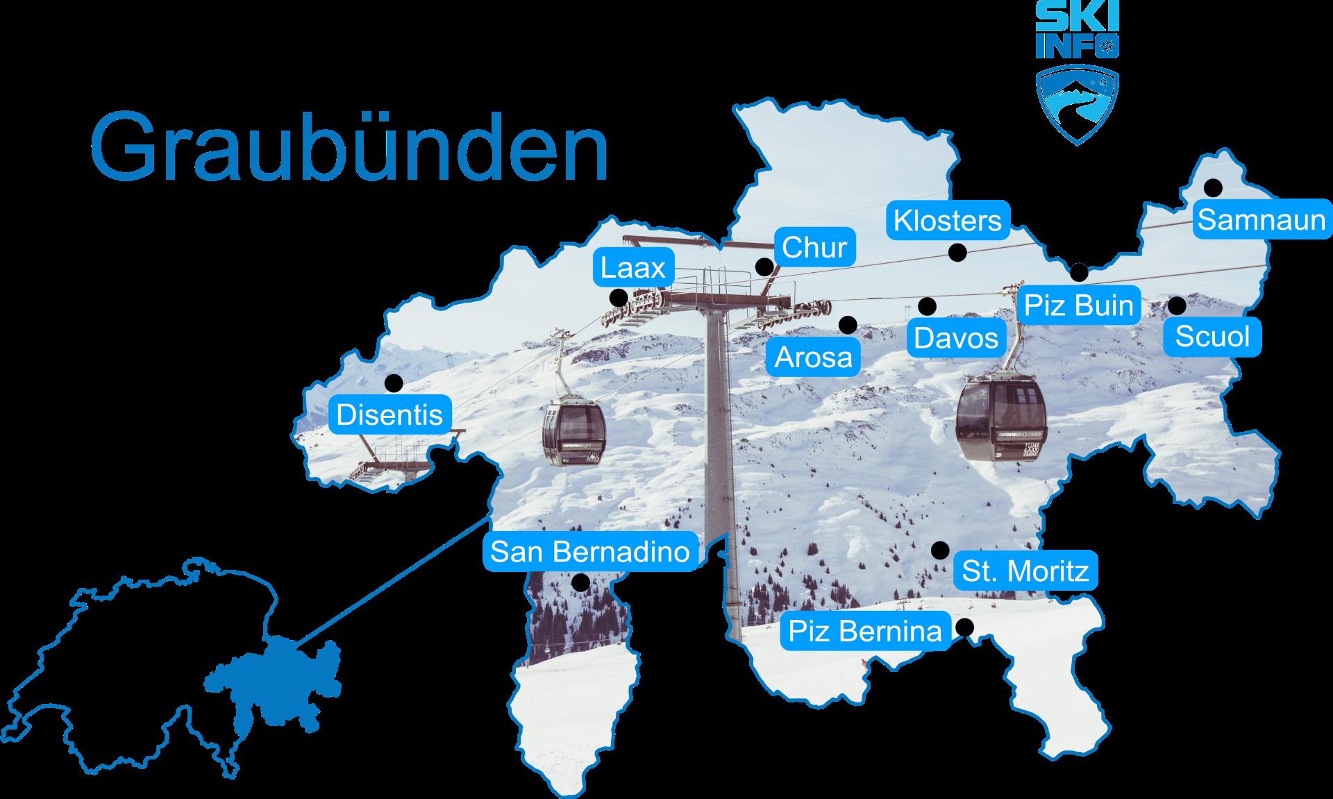 Karte Graubünden