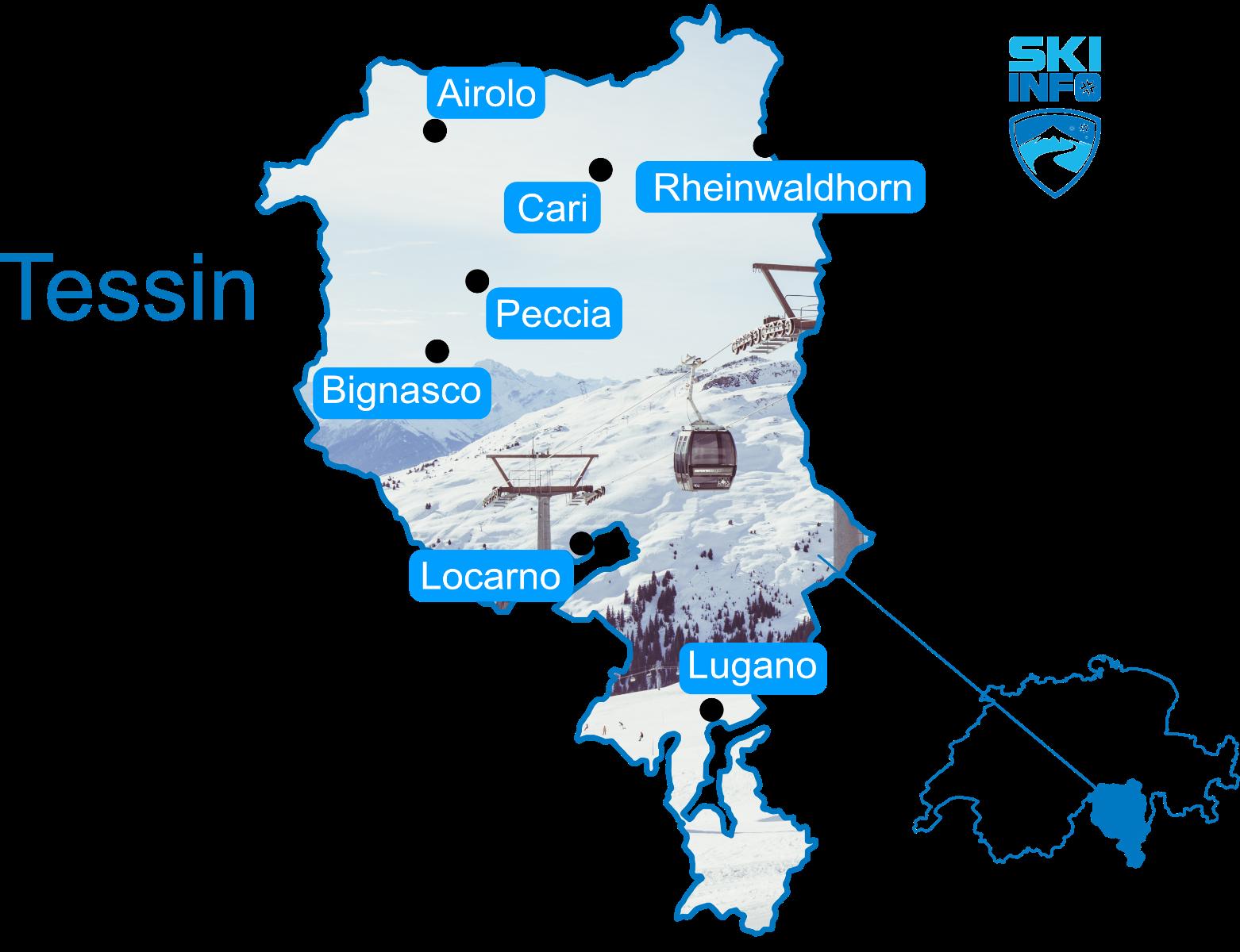 Karte Tessin