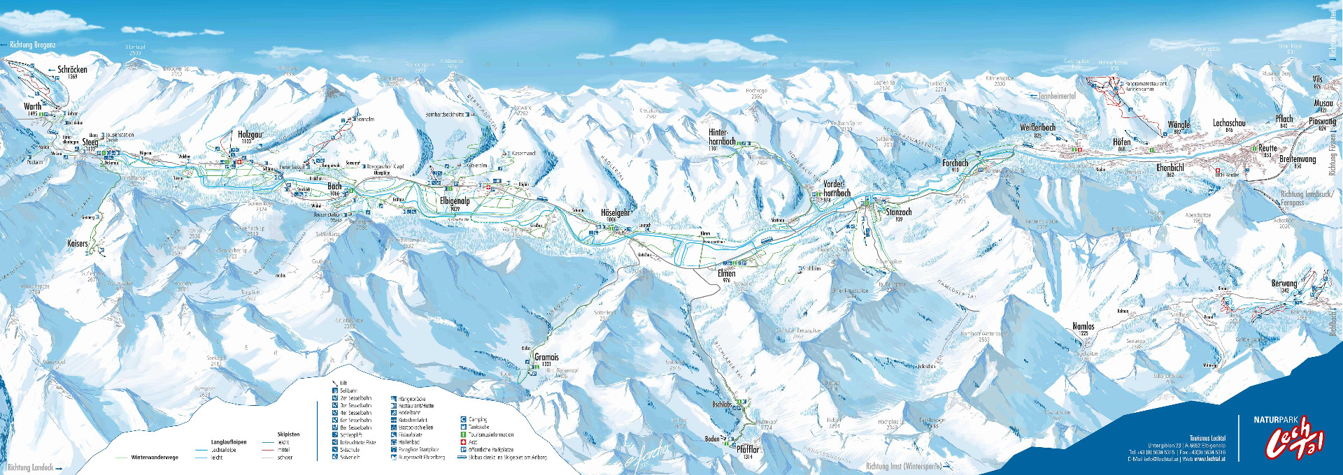 Karte Tirol