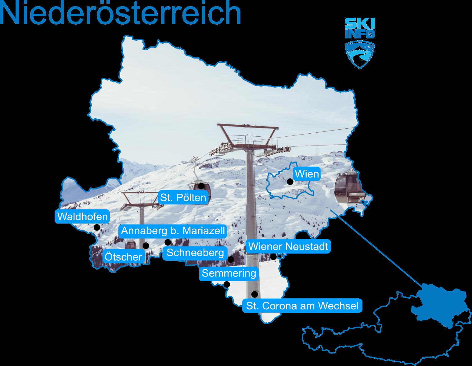 Karte Niederösterreich