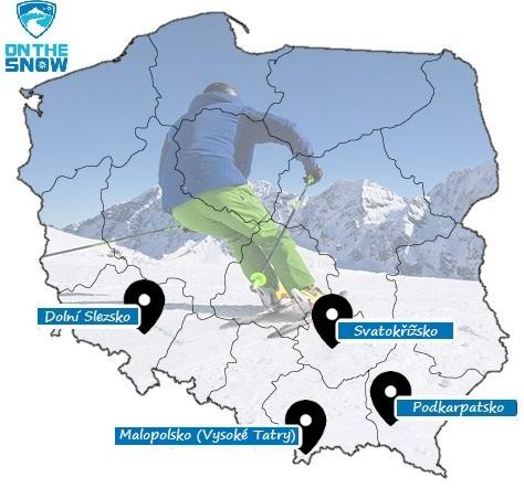 Mapa polských skiareálů