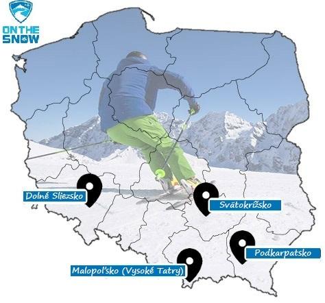 Mapa poľských stredísk