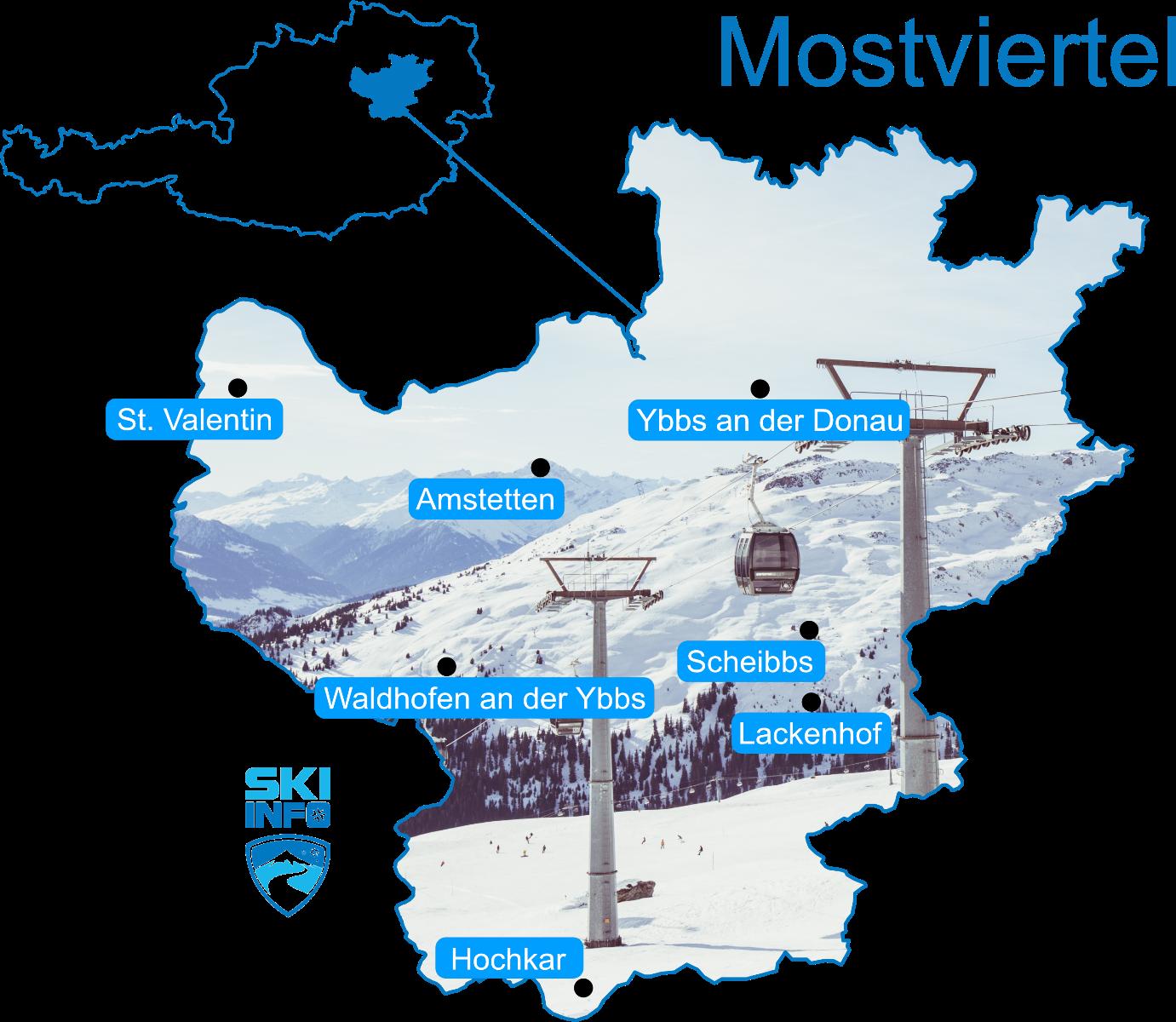 Karte Mostviertel