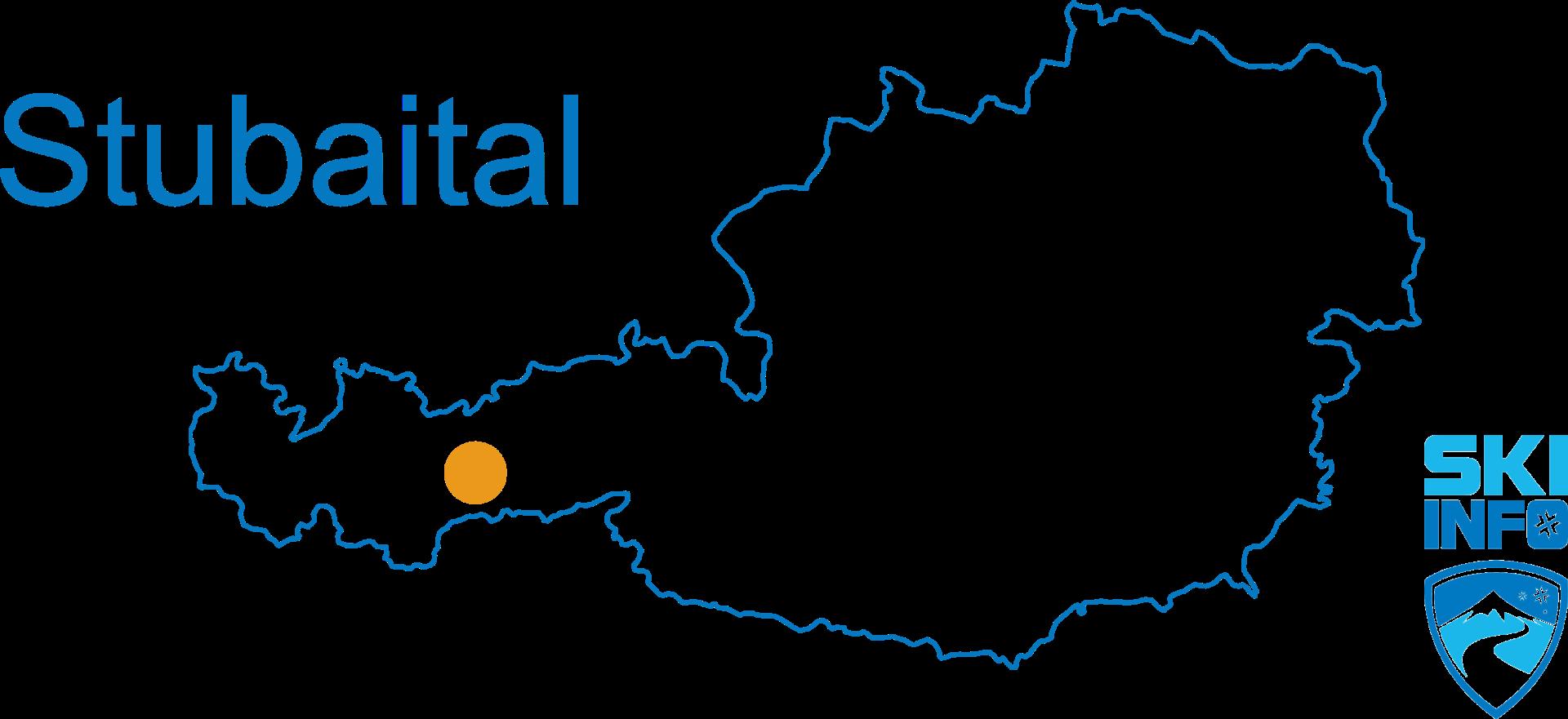 Karte Stubaital