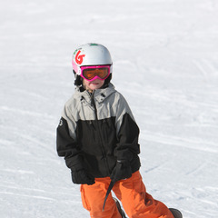 Little snowboarder at Boyne Mountain Resort