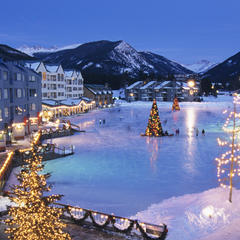 Keystone Colorado lake and ice rink