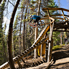 Winter Park's Trestle Bike Park offers something for everyone from season pros to first-timers. - © Chris Wellhausen