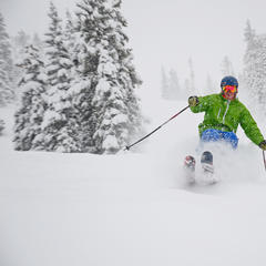 "Winter Park recently surpassed 347"", its historical average for snowfall in an entire season. - © Sarah Wieck"