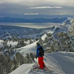Views skiing Squaw