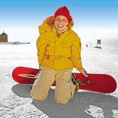 Perfekte Bedingungen - Zeit zum Snowboarden!