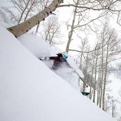 Ski Test Director, Krista Crabtree, takes a lap - © Liam Doran