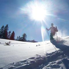 Abstieg beim Schneeschuhwandern - ©Atlas