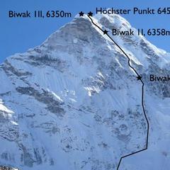 Route von Göttler und Hiraide - © David Göttler_www.straight-to-the-top.eu