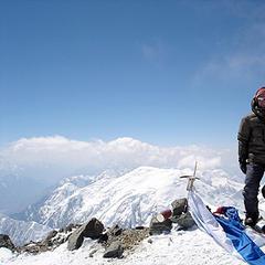 Alix von Melle und Luis Stitzinger vor Makalu Expedition