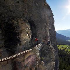 Impressionen vom Klettersteig Flims - © Flims Tourismus