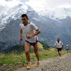 Impression vom Inferno-Halbmarathon über 21,1 Kilometer (2.070 Höhenmeter) von Lauterbrunnen über Muerren auf das Schilthorn am Samstag, 19. August 2006 - ©swiss-image.ch/Remy Steinegger