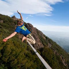 Lukas Irmler: Schöner Blick vom Mt. Tan - © Christian Rojek©adidas.com/outdoor