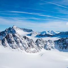 Der Blick vom Schrankogel Skigipfel - © Erika Spengler