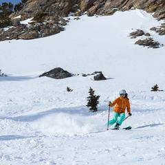 Krista skiing - © Liam Doran