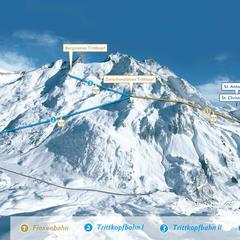 Nové propojení Lech Zürs a St. Antonu - © Ski Arlberg