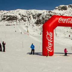 Vinterferie i Hordaland! Coca Cola arrangerte skirenn for barna og 150 stilte til start.