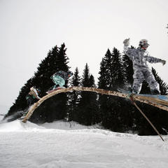 Avoriaz's ecological snowpark The Stash, France - © Avoriaz
