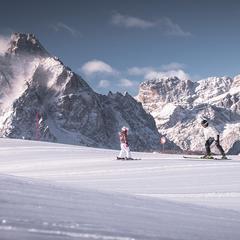 Lyžařské terény v oblasti Tre Cime Dolomiti