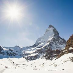 Das Matterhorn von der Bergstation des Hirli-Sessellifts - © Skiinfo | Sebastian Lindemeyer