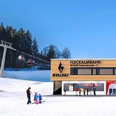 Nástupná stanica novej Fleckalmbahn v Kitzbühelu (vizualizácia) - © Bergbahn Kitzbühel AG