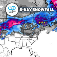 Heavy Snow & 2 Storms Target Sierras, Rockies: 3.7 Snow B4U Go - ©Meteorologist Chris Tomer